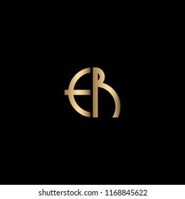 Minimal Unique and Creative Black and Golden Color ER Letters Logo Design