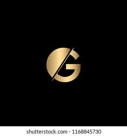 Minimal Unique and Creative Black and Golden Color OG Letters Logo Design