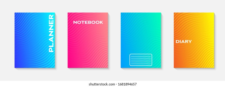 Minimal vector abstract cover notebook design. Planner and diary cover for print. Abstract design for copybook brochures and school books. Notebook paper. Brochure, book, magazine template