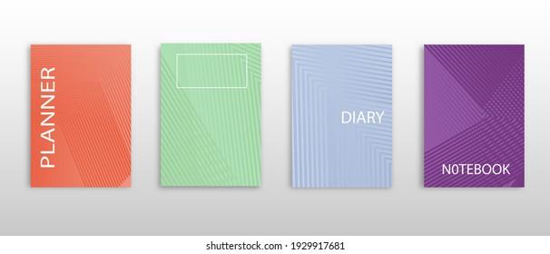 Diseño de bloc de notas de portada abstracta de vector mínimo. Cubierta del planificador y diario para impresión.