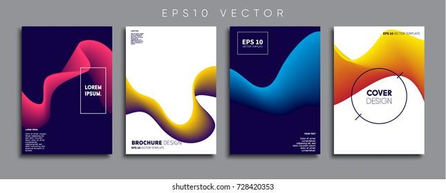 Minimal Vector cover designs. Future Poster templates.