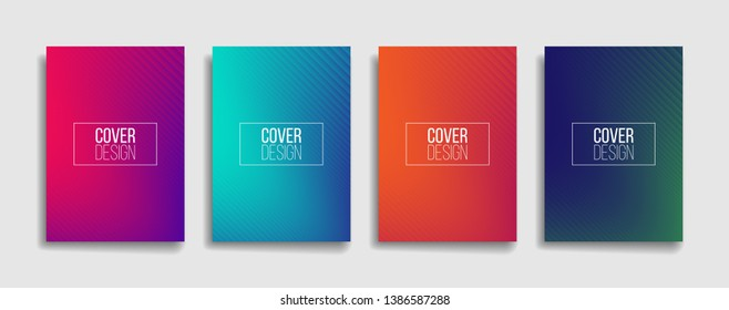 minimal vector covers design with cool gradients and abstract lines. dynamic pattern backdrop in editable eps10 background template. future themed presentation template.