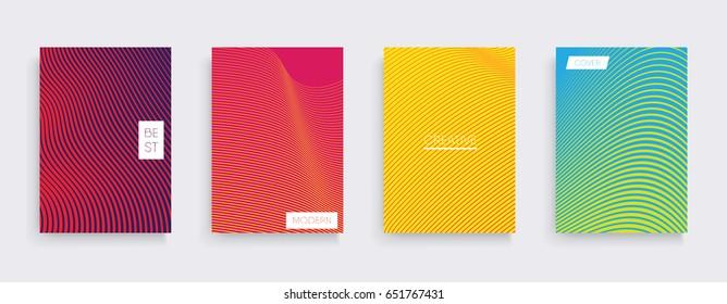 Minimal vector covers design. Cool gradients. Future geometric template.