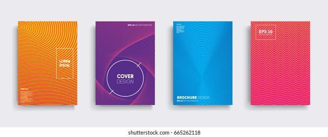Minimal Vector covers design. Cool halftone gradients. Future Poster template.