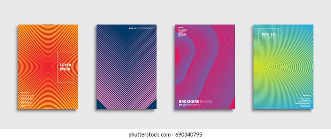 minimal vector covers design cool halftone stock vector royalty