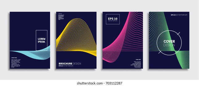 Minimal Vector covers design. Cool halftone gradients. Future Poster template