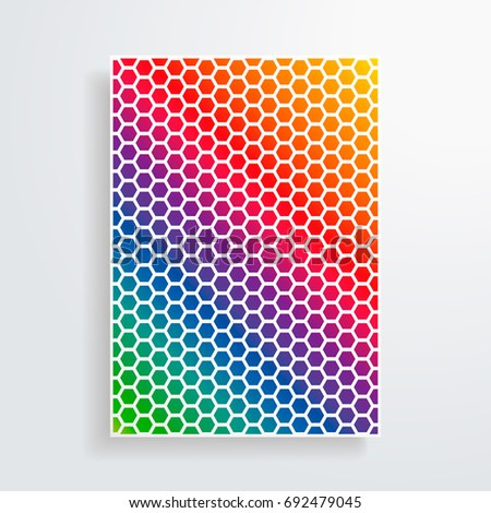 minimal vector covers design cool rainbow stock vector royalty free