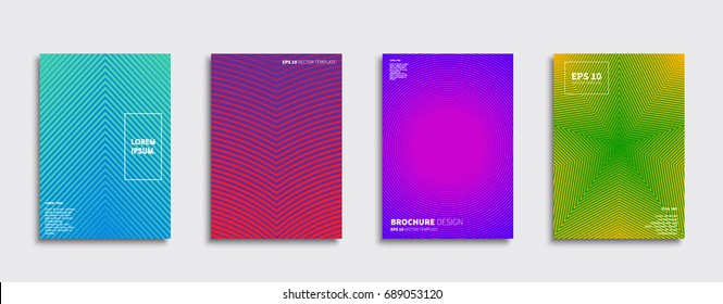 Minimal Vector covers design. Future Poster template.