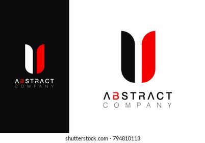 Minimal vector graphic alphabet symbol. Letter U logo.
