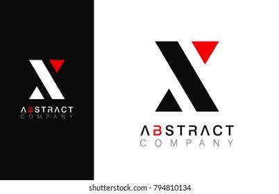 Minimal vector graphic alphabet symbol. Letter X logo.