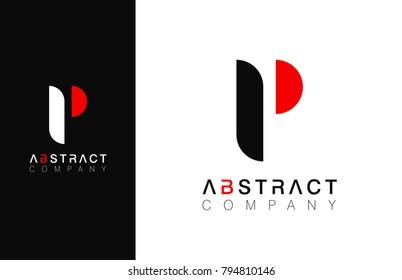 Minimal vector graphic alphabet symbol. Letter P logo.