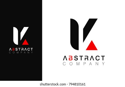 Minimal vector graphic alphabet symbol. Letter K logo.