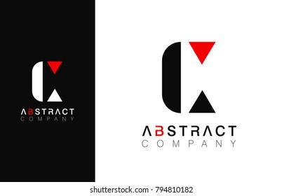 Minimal vector graphic alphabet symbol. Letter C logo.