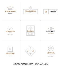 Minimal vector logo collection