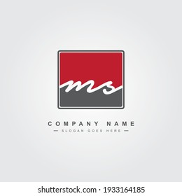 Minimal Vector Logo for Initial Letter MS