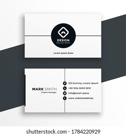 minimal white business card modern template design