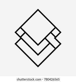 minimalis logo icon