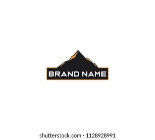 Minimalis Mountain Logo Template