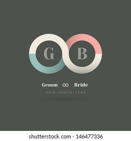 Minimalism Infinity Symbol Wedding Invitation Template