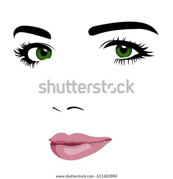 Minimalism Pop Art Style Young Green Stock Vector Royalty Free 611682884