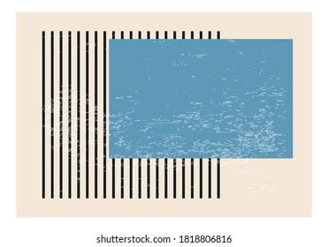 Minimalist 20s geometric abstract background design, vector template with primitive shapes elements, modern hipster style
