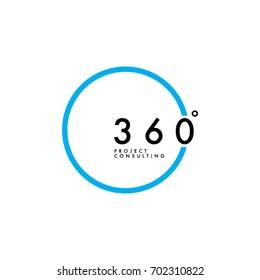 Minimalist 360 Degree Logo