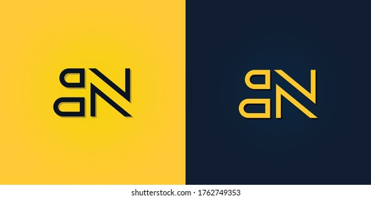 Minimalist Abstract Initial letter BN logo. This logo incorporate with abstract letter in the creative way.