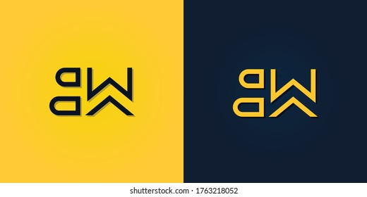 Minimalist Abstract Initial letter BW logo. This logo incorporate with abstract letter in the creative way. It will be suitable for which company or brand name start those initial.