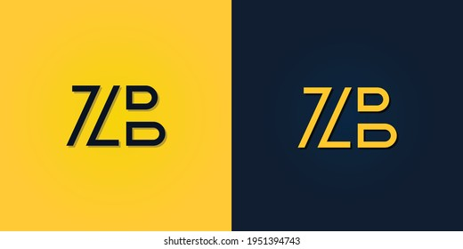 Minimalist Abstract Initial letter ZB logo. This logo incorporate with abstract letter in the creative way.It will be suitable for which company or brand name start those initial.