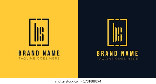 Minimalist abstract letter BS logo.