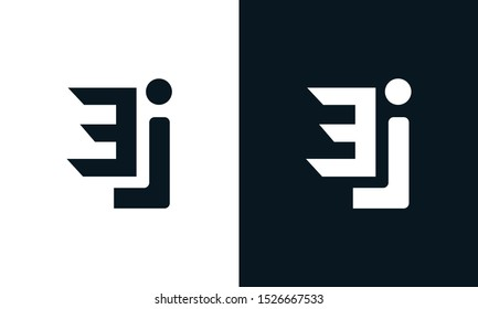 Minimalist abstract letter EJ logo. This logo icon incorporate with two abstract shape in the creative process.