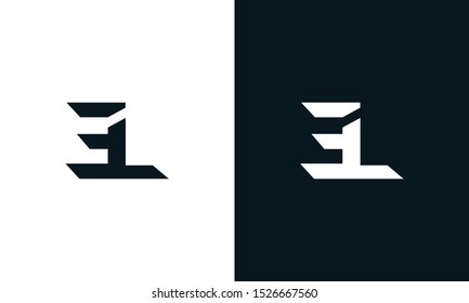Minimalist abstract letter EL logo. This logo icon incorporate with two abstract shape in the creative process.