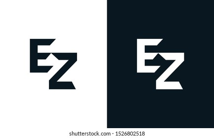 Minimalist abstract letter EZ logo. This logo icon incorporate with two abstract shape in the creative process.