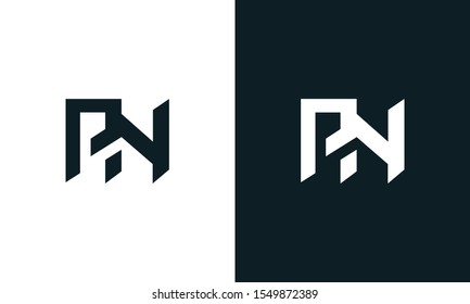 Minimalist abstract letter PN logo. This logo icon incorporate with two abstract shape in the creative process.