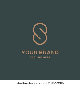 minimalist abstract letter s logo template design editable