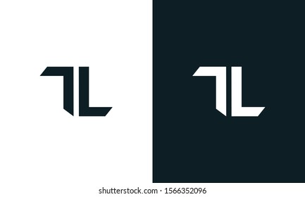 Minimalist abstract letter TL logo. This logo icon incorporate with two abstract shape in the creative process.