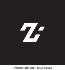 Minimalist abstract letter ZA, ZI, TA, TI logo. This logo icon incorporate with two abstract shape in the creative way. - Vektorgrafik