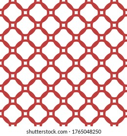 Minimalist background japan style circular grid motif. Traditional oriental ornament circle shapes seamless pattern. Simple geometric allover print block for textile, patchwork fabric, shop window.
