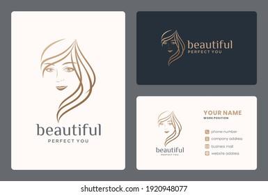 minimalist beauty hair logo design for hairdersser, salon, makeover, beauty care, barber.