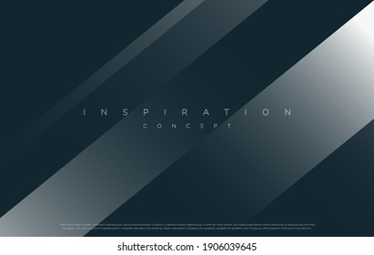 Minimalist blue premium abstract background with luxury geometric elements. Exclusive wallpaper design for poster, brochure, presentation, website etc. - Vector EPS