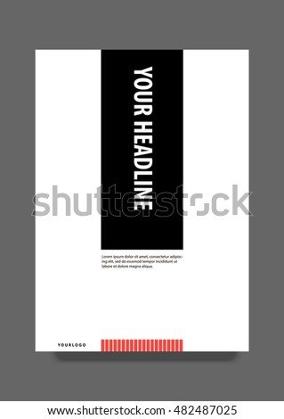 minimalist brochure cover page template layout stock vector royalty