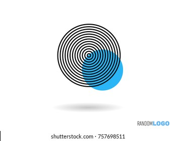 Minimalist concentric circles, logo style, for your new startup. Vector easy to edit