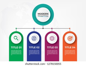 Minimalist Corporate organization chart. Organization infographic design vector.