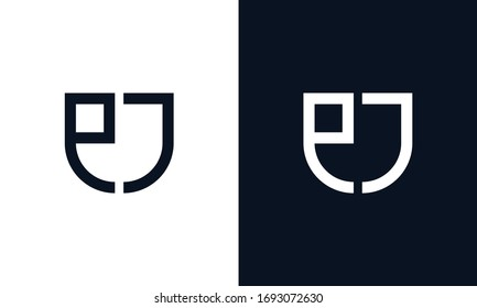 Minimalist creative elegant line art letter EJ logo. This logo icon incorporate with letter E and J in the creative way.