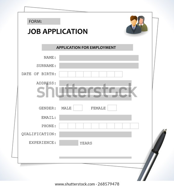 Minimalist Cv Resume Template Job Application Stock Vector
