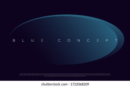 Minimalist deep blue premium abstract background with luxury geometric dark shapes. Exclusive wallpaper design for poster, brochure, presentation, website etc. - Vector EPS