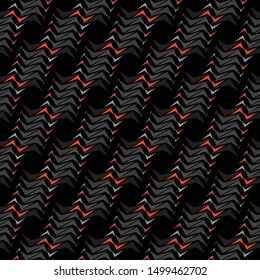 Minimalist design, abstract geometric seamless pattern with vertical fading lines, tracks, halftone stripes. Extreme sport style illustration. Geometric element. diagonal lines – Vector