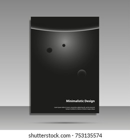 Minimalist design. Black and white. Brochure, cover, banner flyer The concept