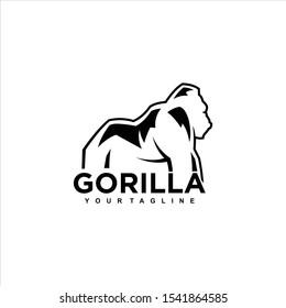 Minimalist design for gorillas. modern, simple.