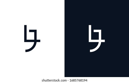 Minimalist elegant line art letter LJ logo.This logo icon incorporate with letter L and J in the creative way.
